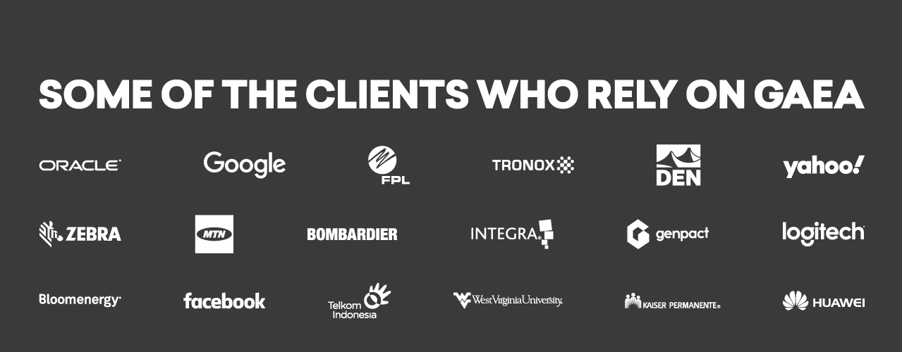 Meet some of Gaea's esteemed clients.